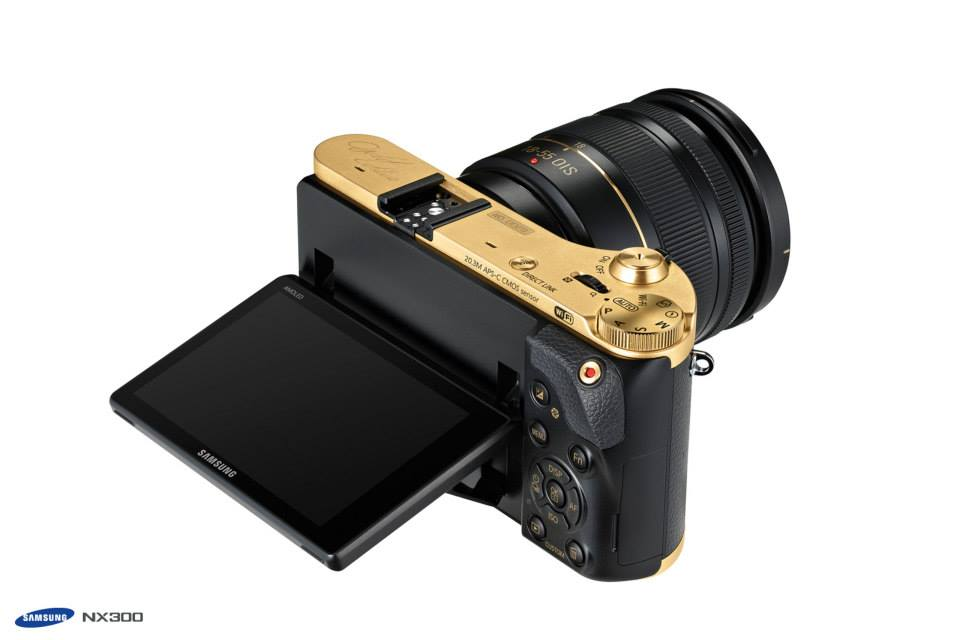 Samsung gold special edition NX300 camera kit