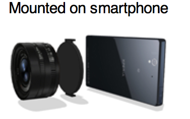 Sony camera attachment for smart phones
