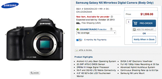 Samsung-Galaxy-NX-Android-camera-price