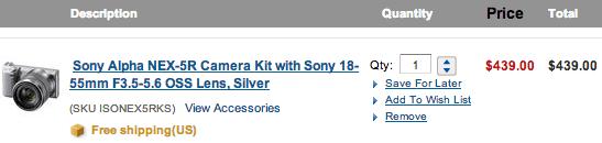 Sony-NEX-5R-sale