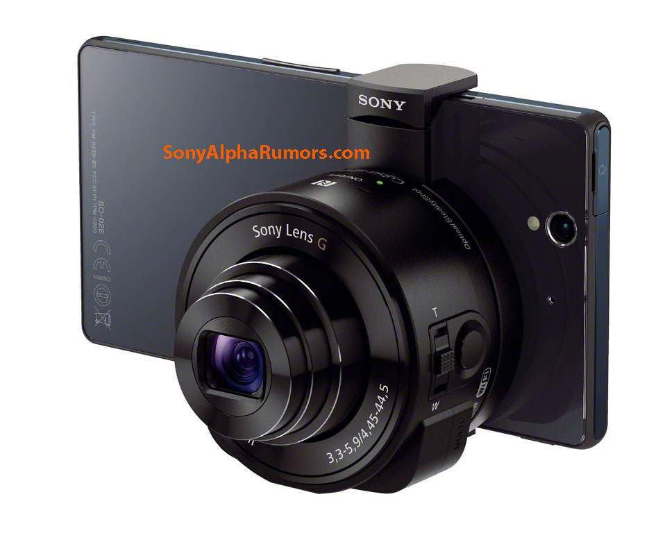 Sony QX10 lens camera modules for smart phones