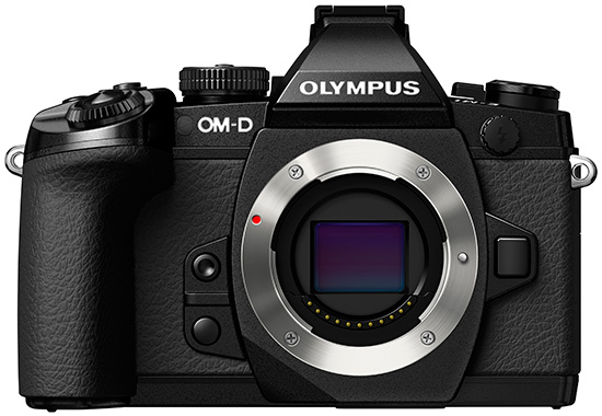 Olympus-E-M1-camera-front