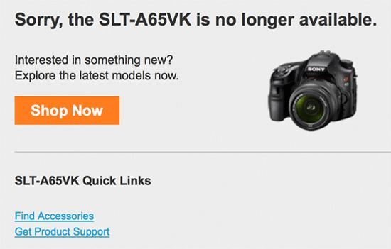 Sony-a65-camera-discontinued
