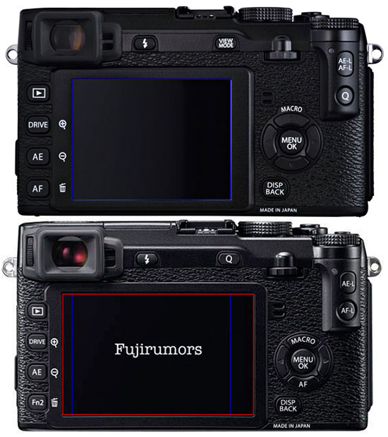 Fuji-X-E1-vs-X-E2-screen-comparison