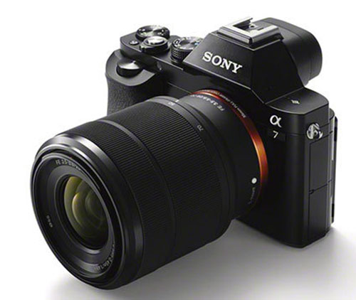 Sony A7 full frame mirrorless cameras