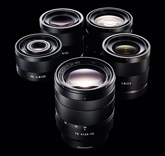 sony japan published a new fe full frame lens roadmap for their latest a7a7r mirrorless camera line in addition to the 5 new lenses that got announced