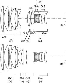 Konica Minolta 150mm f:2.8 lens patent