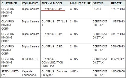Olympus OMD E-M10 camera