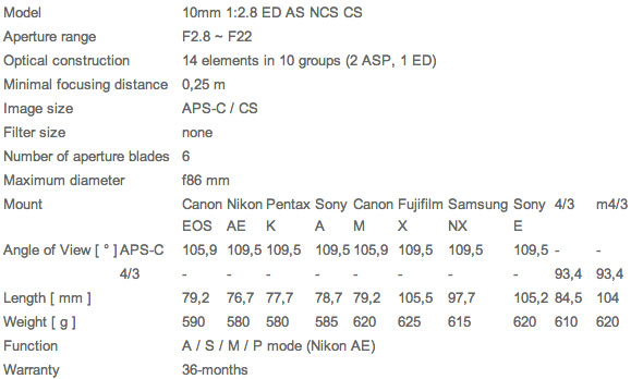 Samyang-10mm-f2.8-lens-specifications