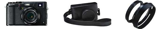 Black Fuji X100s camera acessories