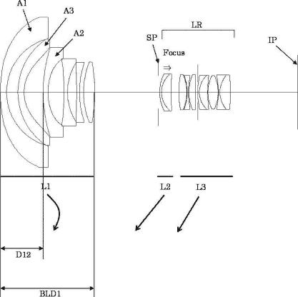 Canon 11-24mm f:4 lens patent