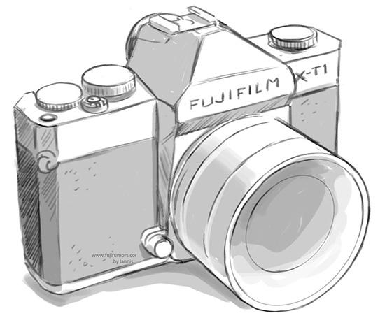 Fuji-X-T1-camera-drawing