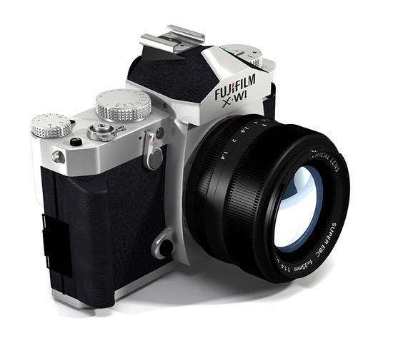 Fuji X-W1 camera front