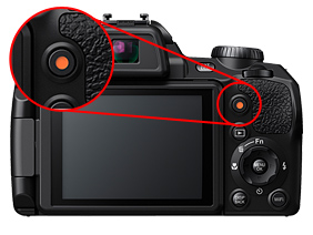 Fujifilm FinePix S1 camera video button