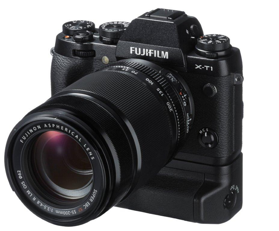 Fujifilm X-T1 mirrorless camera battery grip