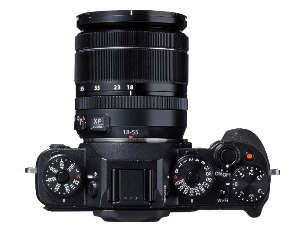 Fujifilm X-T1 mirrorless camera top