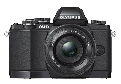 Olympus OMD E-M10 camera front