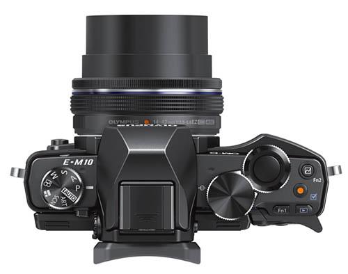 Olympus OMD E-M10 camera top
