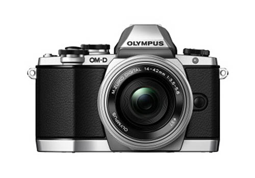 Olympus OMD E-M10 silver camera