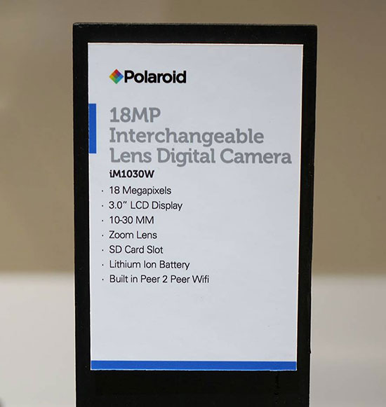 Polaroid-mirrrorless-interchangeable-lens-camera-specifications