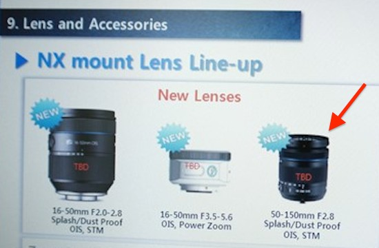 Samsung NX 50-150mm f:2.8 OIS STM lens