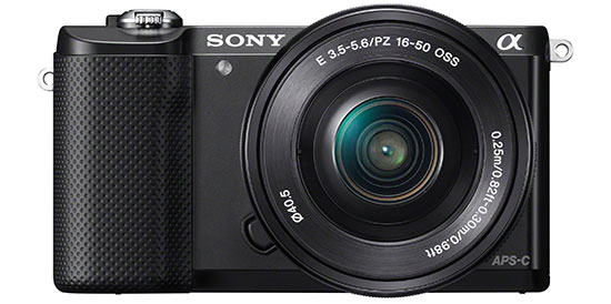Sony-Alpha-A5000-camera-black-front