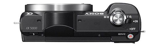 Sony-Alpha-A5000-camera-top
