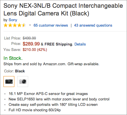 Sony-NEX-3NL-camera-deal