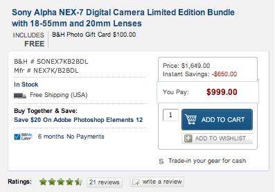 Sony-NEX-7-sale
