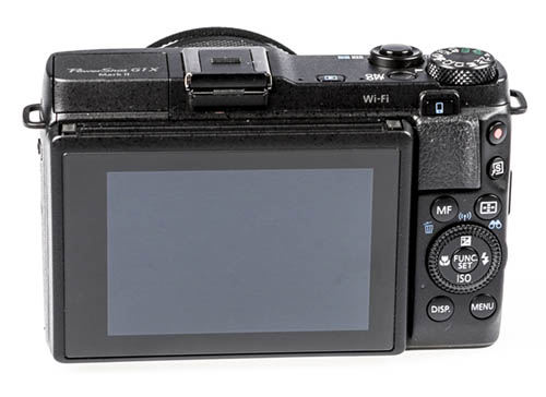 Canon PowerShot G1 X Mark II camera back