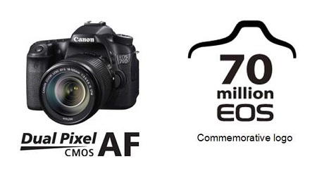Canon produced 70 million EOS cameras