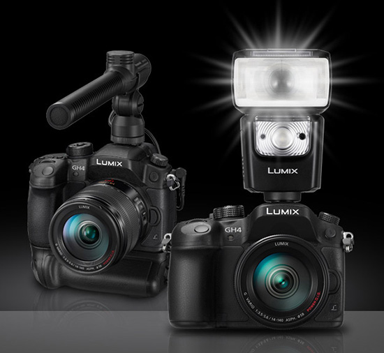 Panasonic-Lumix-GH4-camera-flash-microphone