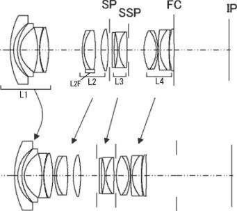 Canon 16-35mm f:2.8 lens patent