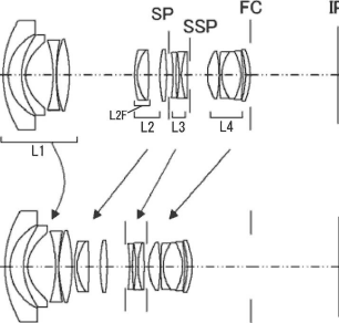 Canon 17-40mm f:4 lens patent