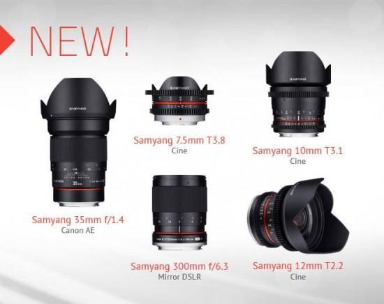New Samyang lenses