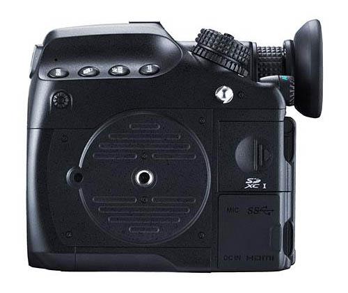 Pentax 645z medium format camera bottom