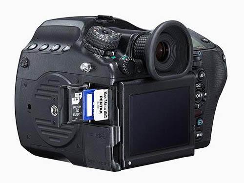 Pentax 645z medium format camera side
