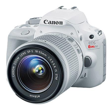 Canon EOS Rebel SL1 DSLR camera white