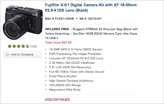 Fuji-X-E1-camera-kits-discontinued