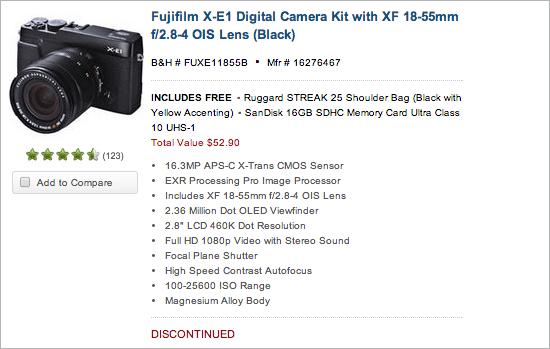 Fuji-X-E1-camera-kits-discontinued