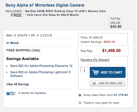 The cheapest full frame camera available today (new Sony a7 price ...