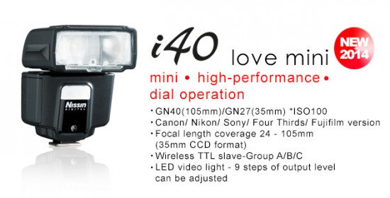 Nissin i40 flash for Micro Four Thirds