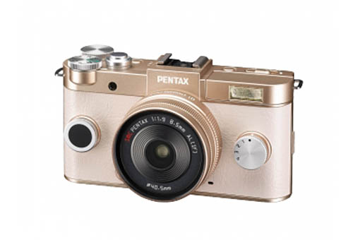 Pentax Q2 mirrorless camera gold