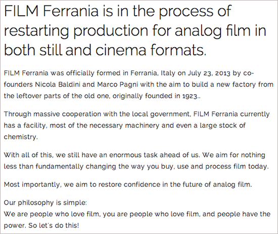 Ferrania-to-start-producing-film-again
