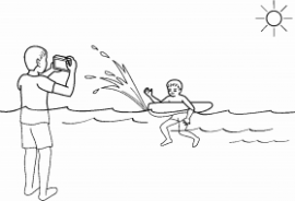 Olympus water splash mode patent