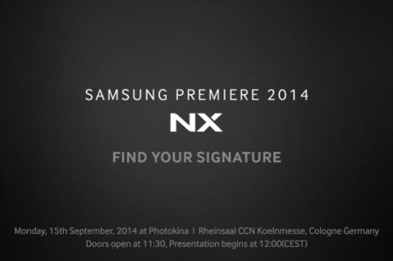 Samsung NX1 camera Photokina