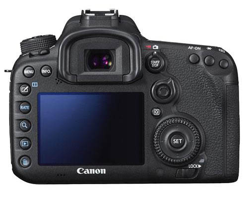 Canon EOS 7D Mark II camera back