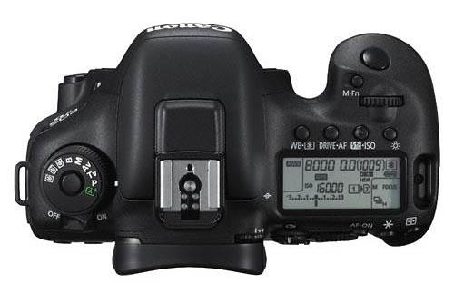 Canon EOS 7D Mark II camera top