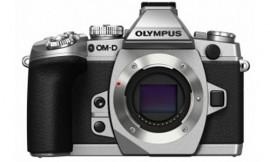 Olympus-E-M1-camera-silver