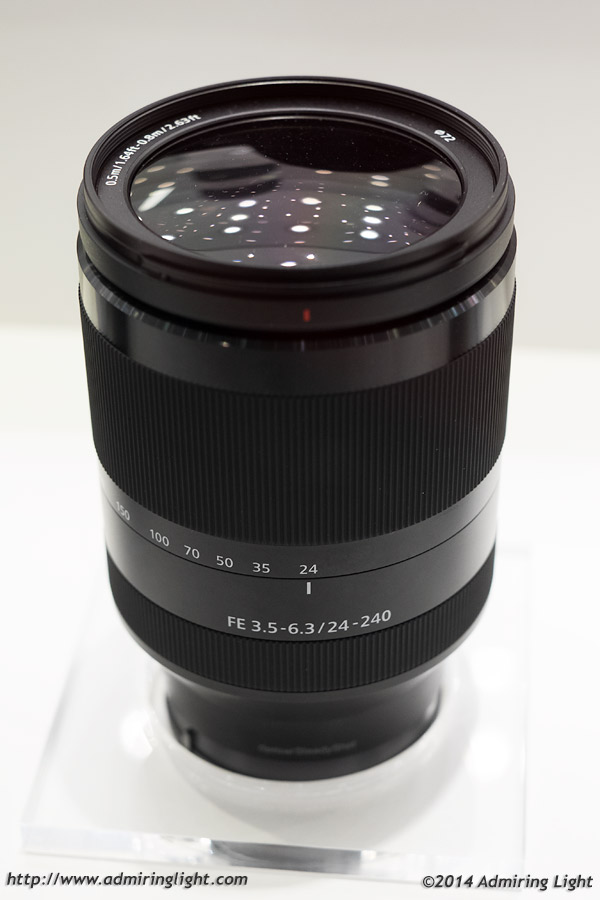 Sony FE 24-240mm f:3.5-6.3 OSS lens